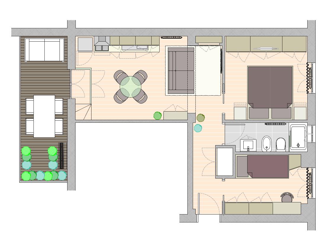 P.zza Agrippa nuova realizzazione trilocale con terrazzo